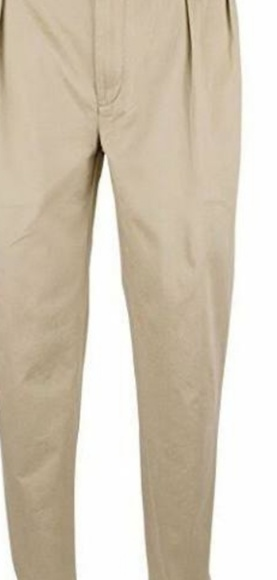 Polo Ralph Lauren Beige Classic Fit Pleated Pants NWT